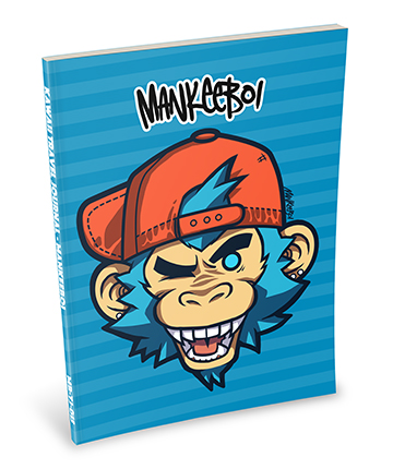 Mankeeboi - Logo Kawaii Notebooks